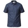 Tierra KAIPARO HEMP SHORT SLEEVE SHIRT M Miehet - ECLIPSE BLUE